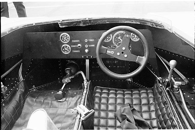 1971 Shadow Can-Am car, cockpit. Photo taken at Road Atlanta by Pete Lyons.
