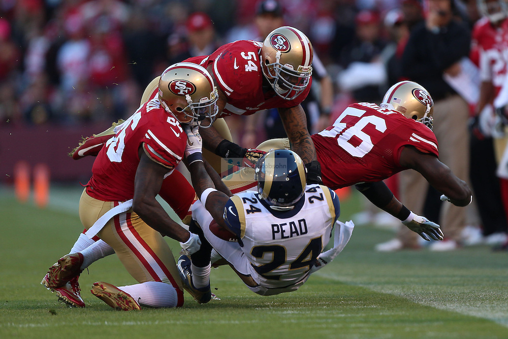 St. Louis Rams XXXXX against the San Francisco 49ers XXXXX, Sunday, Nov. 11, 2012 in San Francisco.