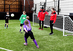 Mark Little and Luke Freeman of Bristol City play with children at The BCCT EFL Kids Cup - Mandatory by-line: Robbie Stephenson/JMP - 23/11/2016 - FOOTBALL - South Bristol Sports Centre - Bristol, England - BCCT EFL Kids Cup