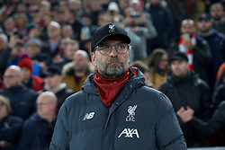 LIVERPOOL, Nov. 6, 2019  Liverpool's manager Jurgen Klopp is seen before the UEFA Champions League Group E match soccer between Liverpool FC and KRC Genk at Anfield in Liverpool, Britain on Nov. 5, 2019.  FOR EDITORIAL USE ONLY. NOT FOR SALE FOR MARKETING OR ADVERTISING CAMPAIGNS. NO USE WITH UNAUTHORIZED AUDIO, VIDEO, DATA, FIXTURE LISTS, CLUB/LEAGUE LOGOS OR ''LIVE'' SERVICES. ONLINE IN-MATCH USE LIMITED TO 45 IMAGES, NO VIDEO EMULATION. NO USE IN BETTING, GAMES OR SINGLE CLUB/LEAGUE/PLAYER PUBLICATIONS. (Credit Image: © Han Yan/Xinhua via ZUMA Wire)