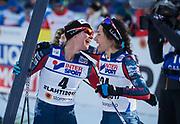 LAHTIS, FINLAND - 2017-03-04: Jessica Diggins och Chelsea Holmes under damernas 30 km mass start under FIS Nordic World Ski Championships den 4 mars , 2017 i Lahtis, Finland. Foto: Nils Petter Nilsson/Ombrello<br /> ***BETALBILD***