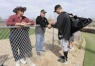 GLENDALE, AZ - FEBRUARY 24:  A.J. PIerzynski #12 of Chicago White Sox signs autographs after a spring training workout on February 24, 2010 at the White Sox training facility at Camelback Ranch in Glendale, Arizona. (Photo by Ron Vesely)