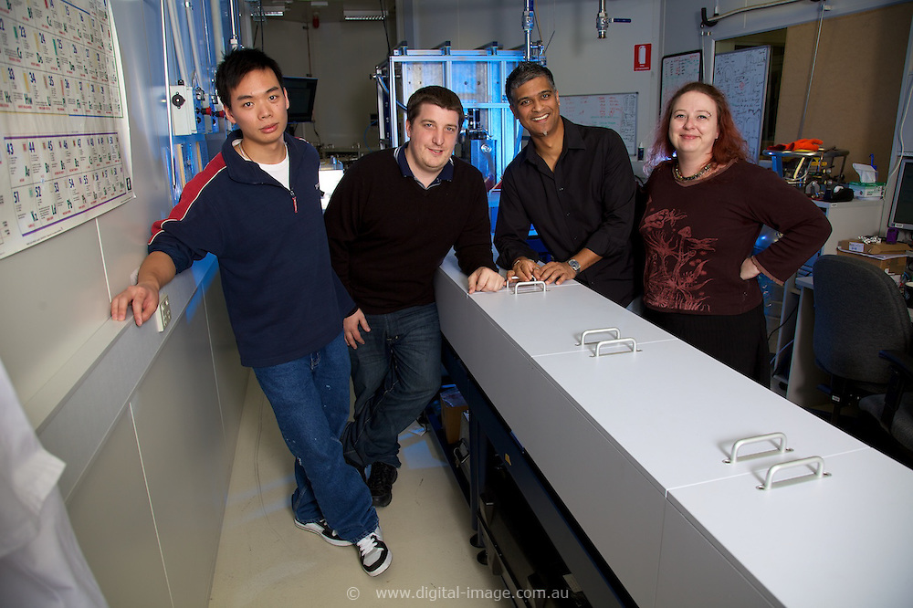 Infrared Beamline, Australian Synchrotron.   Group photo, Dr Dom Appadoo & staff