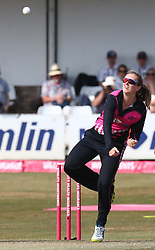 July 1, 2018 - London, Greater London, United Kingdom - Anna Peterson of New Zealand Women  .during International Twenty20 Final match between England Women and New Zealand Women  at The Cloudfm County Ground, Chelmsford, England on 01 July 2018. (Credit Image: © Kieran Galvin/NurPhoto via ZUMA Press)