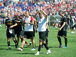 BALTIMORE, MD - Saturday, July 28, 2012: Liverpool captain Steven Gerrard after the goalless draw against Tottenham Hotspur during a pre-season friendly match at the M&T Bank Stadium. (Pic by David Rawcliffe/Propaganda)