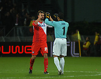 Football - UEFA Europa League - FC Utrecht vs. Steaua Bucharest - Jan Wuytens and Micehl Vorm celebrate Utrechts goal.