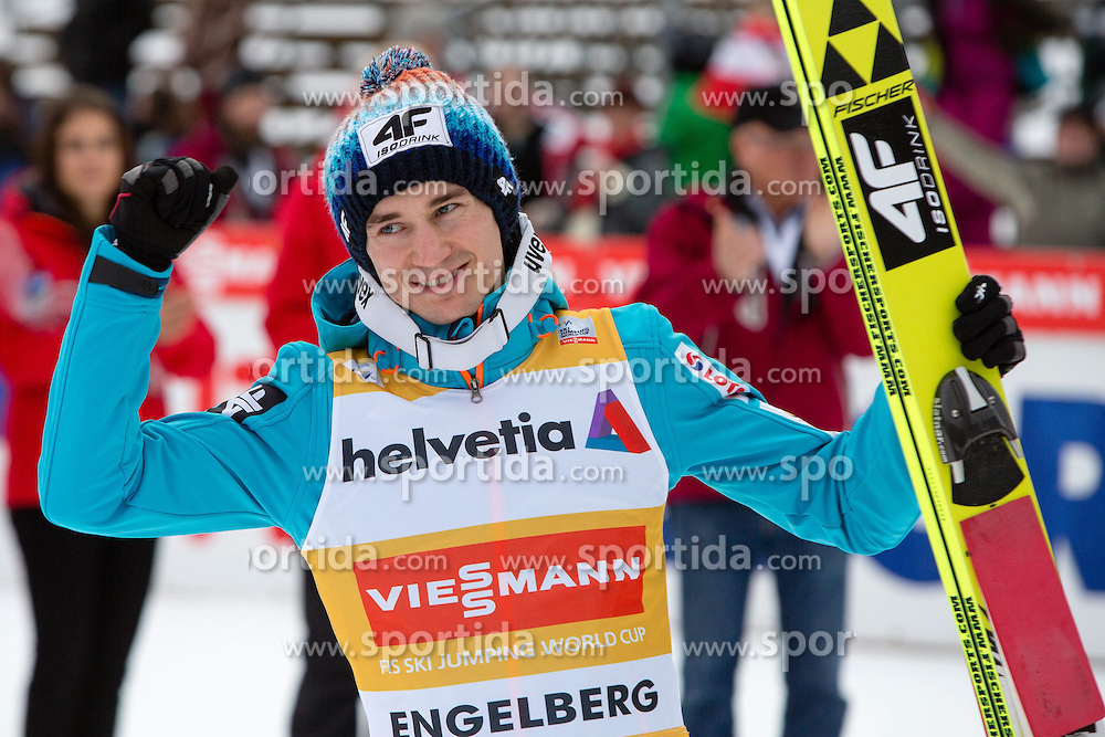 22.12.2013, Gross Titlis Schanze, Engelberg, SUI, FIS Weltcup Ski Sprung, Engelberg, Herren, im Bild Kamil Stoch (POL) // during mens FIS Ski Jumping world cup at the Gross Titlis Schanze in Engelberg, Switzerland on 2013/12/22. EXPA Pictures &copy; 2013, PhotoCredit: EXPA/ Eibner-Pressefoto/ Socher<br /> <br /> *****ATTENTION - OUT of GER*****