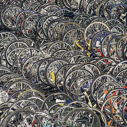 Bicycles belonging to the 1,817 people who participated in the 2008 American Lung Association Trek Across Maine are stored overnight in a field house at Colby College in Waterville, ME. June 14, 2008. 543 volunteers also took part.