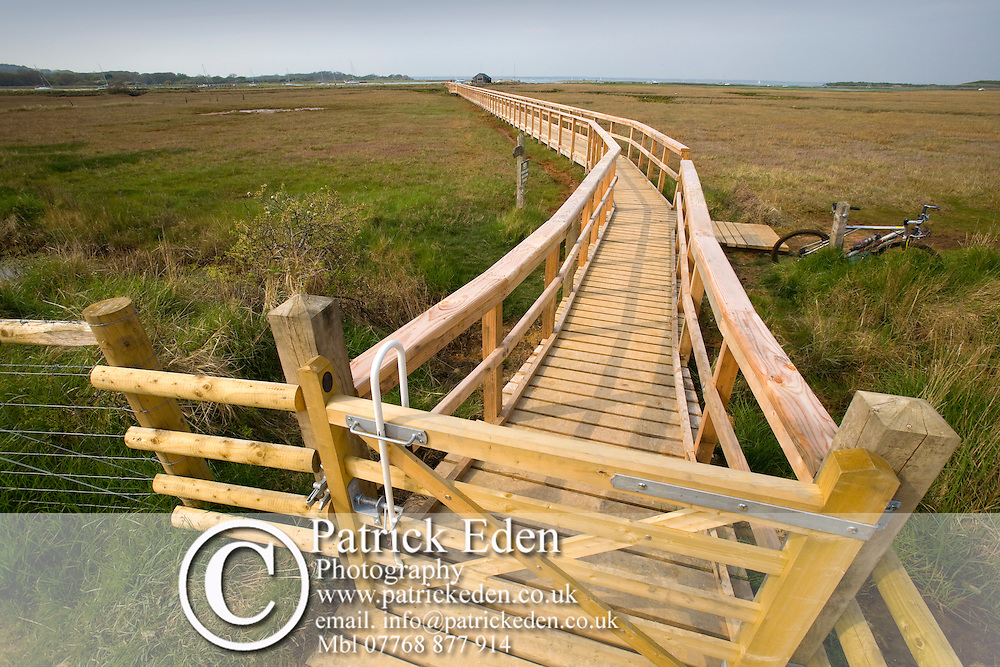 New foot bridge, Newtown nature Reserve, Isle of Wight, England, UK, Photographs of the Isle of Wight by photographer Patrick Eden photography photograph canvas canvases