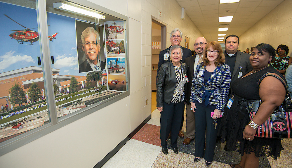 Hartman Middle School Health and Medical Wing dedication, April 3, 2014.