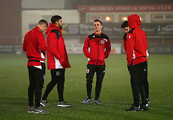 Bristol City players take a walk on the pitch before kick off - Mandatory by-line: Matt McNulty/JMP - 17/01/2017 - FOOTBALL - Highbury Stadium - Fleetwood,  - Fleetwood Town v Bristol City - Emirates FA Cup Third Round Replay
