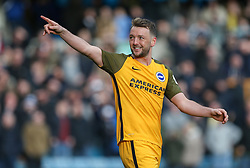 Dale Stephens of Brighton and Hove Albion celebrates after scoring his penalty - Mandatory by-line: Arron Gent/JMP - 17/03/2019 - FOOTBALL - The Den - London, England - Millwall v Brighton and Hove Albion - Emirates FA Cup Quarter Final
