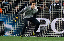 Goalkeeper of Slovenia Samir Handanovic during the 2010 FIFA World Cup South Africa Group C match between Slovenia and USA at Ellis Park Stadium on June 18, 2010 in Johannesberg, South Africa. (Photo by Vid Ponikvar / Sportida)