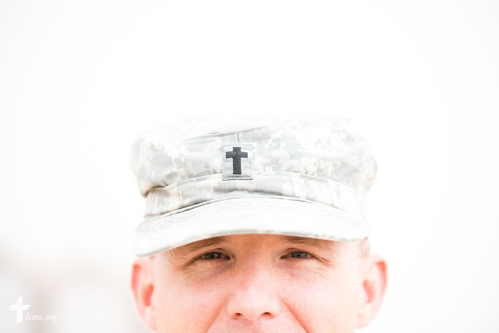 Army Capt. Chad Czischke, chaplain, Sunday, March 22, 2015, at Camp Buehring in Kuwait. LCMS Communications/Erik M. Lunsford