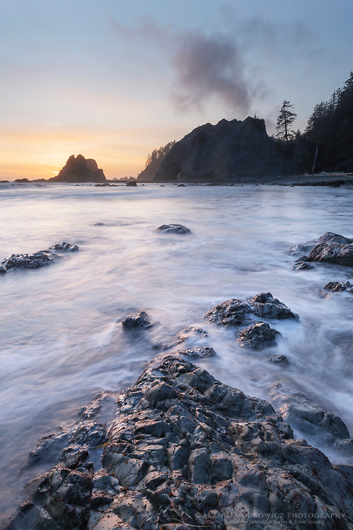 Twilight at Rialto Beach, Olympic National Park