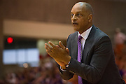 FORT WORTH, TX - JANUARY 19: TCU Horned Frogs head coach Trent Johnson looks on against the Texas Longhorns on January 19, 2015 at Wilkerson-Greines AC in Fort Worth, Texas.  (Photo by Cooper Neill/Getty Images) *** Local Caption *** Trent Johnson