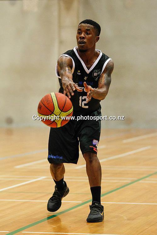 Waikato Pistons import Corin Henry fires off a pass during the NBL basketball match - Waikato v Taranaki at Hamilton Boys High School, Hamilton on Sunday 13 April 2014.  Photo:  Bruce Lim / www.photosport.co.nz