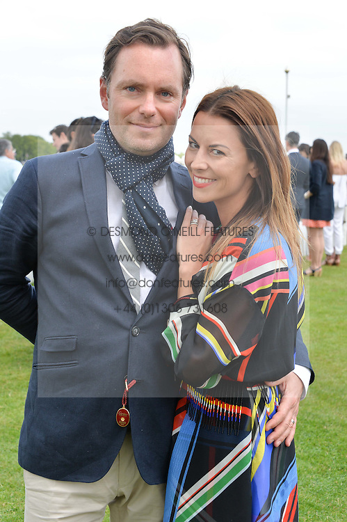 GREGOR & JULIET ANGUS at the Cartier Queen's Cup Polo final at Guard's Polo Club, Smiths Lawn, Windsor Great Park, Egham, Surrey on 14th June 2015