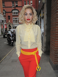 Singer Rita Ora visits Kiss FM in central London, UK. 31/03/2014<br />