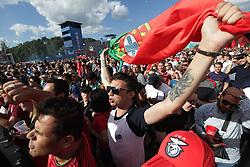 June 20, 2018 - EUM20180620DEP17.JPG.MOSCÚ, Rusia, Soccer/Futbol-Mundial.- Aspectos de los aficionados en las inmediaciones del Estadio Luzhniki, previo al encuentro entre Portugal y Marruecos, que tuvo lugar este 20 de junio de 2018 como parte de la actividad del Grupo B del Mundial Rusia 2018. Foto: Agencia EL UNIVERSAL/Luis Cortes/AFBV (Credit Image: © El Universal via ZUMA Wire)