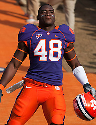 November 21, 2009; Clemson, SC, USA;  Clemson Tigers linebacker Jeremy Campbell (48) before the game against the Virginia Cavaliers at Memorial Stadium.  Clemson defeated Virginia 34-21.