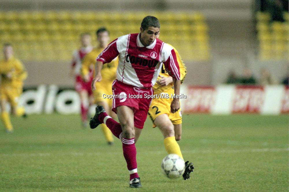 David Trezeguet - 14.12.1997 - Monaco / Rennes - Ligue 1<br />Photo : Daniel Bardou / Icon Sport