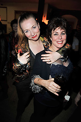 Left to right, JUDITH OWEN and RUBY WAX at the gala night party of Losing It staring Ruby Wax held at he Menier Chocolate Factory, 51-53 Southwark Street, London SE1 on 23rd February 2011.