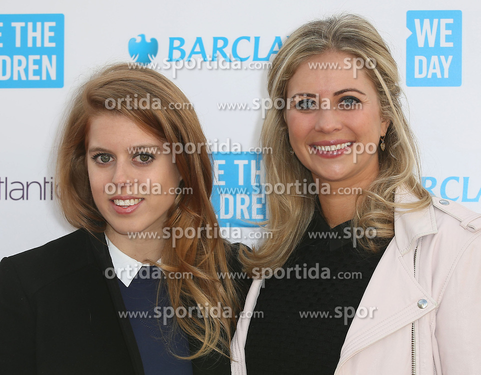 Princess Beatrice,Holly Branson at WE Day, London, Britain 5th March 2015. EXPA Pictures &copy; 2015, PhotoCredit: EXPA/ Photoshot/ James Shaw<br /> <br /> *****ATTENTION - for AUT, SLO, CRO, SRB, BIH, MAZ only*****