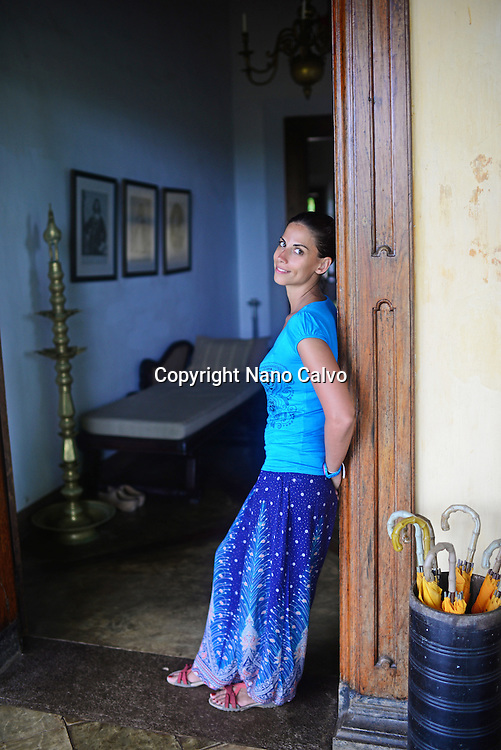 Young attractive woman at The Dutch House, Galle,  Sri Lanka