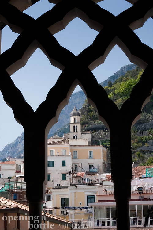 View from inside the alcoves of the Amalfi Cathedral, Amalfi (Campagna), Italy.