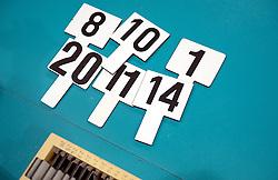 20150620 NED: World League Nederland - Portugal, Groningen<br /> De Nederlandse volleyballers hebben in de World League het vierde duel met Portugal verloren. Na twee uitzeges en de 3-0 winst van vrijdag boog de ploeg van bondscoach Gido Vermeulen zaterdag in Groningen met 3-2 voor de Portugezen: (25-15, 21-25, 23-25, 25-21, 11-15) / Wisselbordjes, item, creative volleybal