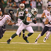 Greg Salas, New York Jets, in action during the New York Jets Vs Chicago Bears, NFL regular season game at MetLife Stadium, East Rutherford, NJ, USA. 22nd September 2014. Photo Tim Clayton for the New York Times