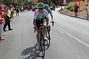 Benjamin King (USA - Dimension Data) - Nikita Stalnov (KAZ - Astana Pro Team) during the UCI World Tour, Tour of Spain (Vuelta) 2018, Stage 4, Velez Malaga - Alfacar Sierra de la Alfaguara 161,4 km in Spain, on August 28th, 2018 - Photo Luis Angel Gomez / BettiniPhoto / ProSportsImages / DPPI