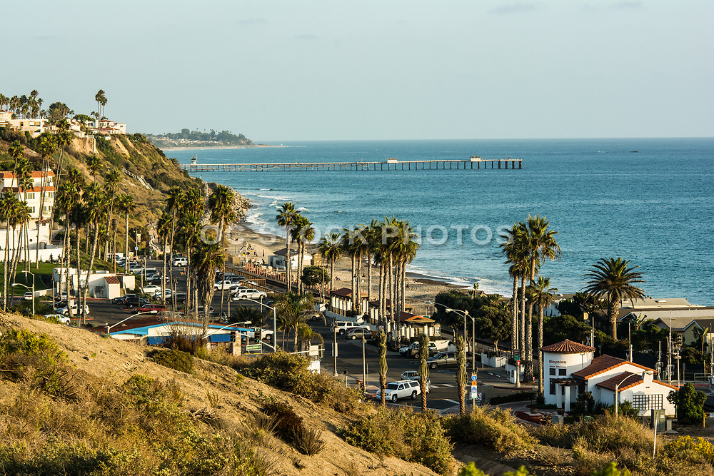 A View Of San Clemente Pier From Vista Del Sol Park