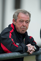 FLINT, WALES - Thursday, May 12, 2011: Wales' manager Brian Flynn during the Men's Under-17's International Friendly match against Sweden at Cae-y-Castell. (Photo by David Rawcliffe/Propaganda)