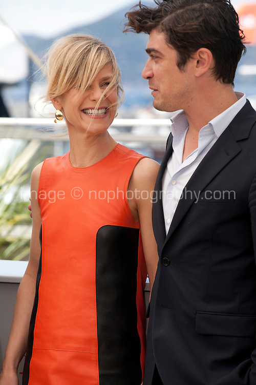 Marina Fois and Riccardo Scamarcio at the Pericle (Pericle Il Nero) film photo call at the 69th Cannes Film Festival Thursday 19th May 2016, Cannes, France. Photography: Doreen Kennedy