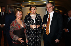 Left to right, MADAME ELENA GAGARINA General Director of the Museums of the Moscow Kremlin and MR & MRS ALEXANDER SHOKHIN, at 'Britannia & Muscovy English Silver at The Court of The Tsars' exhibition opening at the Gilbert Collection, Somerset House, London on 20th October 2006<br /><br />NON EXCLUSIVE - WORLD RIGHTS