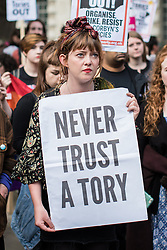 June 9, 2017 - London, London - London, UK. Demonstrators protest opposite Downing Street against Prime Minister Theresa May's decision to form a new government with the support of DUP MPs. The 2017 General Election resulted in a hung parliament in which no party won an outright majority. (Credit Image: © Rob Pinney/London News Pictures via ZUMA Wire)