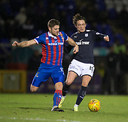 30th January 2018, Tulloch Caledonian Stadium, Inverness, Scotland; Scottish Cup 4th round replay, Inverness Caledonian Thistle versus Dundee; Dundee's Scott Allan battles for the ball with Inverness Caledonian Thistle's Iain Vigurs