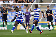 Sone Aluko (14) of Reading on the ball and Andy Yaidom (3) of Reading during the EFL Sky Bet Championship match between Reading and Derby County at the Madejski Stadium, Reading, England on 3 August 2018. Picture by Graham Hunt.