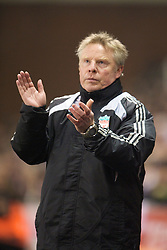 STOKE-ON-TRENT, ENGLAND - Saturday, January 10, 2009: Liverpool's assistant manager Sammy Lee during the Premiership match at the Britannia Stadium. (Photo by David Rawcliffe/Propaganda)