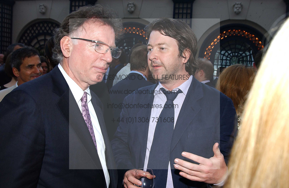Left to right, PHILIP GOULD and DEREK DRAPER former aide to Peter Mandelson, at a party hosted by Andrew neil and The Business Newspaper held at The Ritz, Piccadilly, London on 12th July 2005.<br /><br />NON EXCLUSIVE - WORLD RIGHTS
