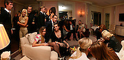 EDDIE REDMAYNE, DONATELLA VERSACE, MARIO TESTINO, ALICE DELLAL, ALEX DELLAL  AND CHARLOTTE CASIRAGHI, Dinner hosted by Elizabeth Saltzman for Donatella Versace. Claridge's Hotel, Brook Street, Mayfair, London. 11 March 2008.  *** Local Caption *** -DO NOT ARCHIVE-© Copyright Photograph by Dafydd Jones. 248 Clapham Rd. London SW9 0PZ. Tel 0207 820 0771. www.dafjones.com.