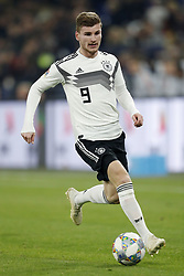 Timo Werner of Germany during the UEFA Nations League A group 1 qualifying match between Germany and The Netherlands at the Veltins Arena on November 19, 2018 in Gelsenkirchen, Germany