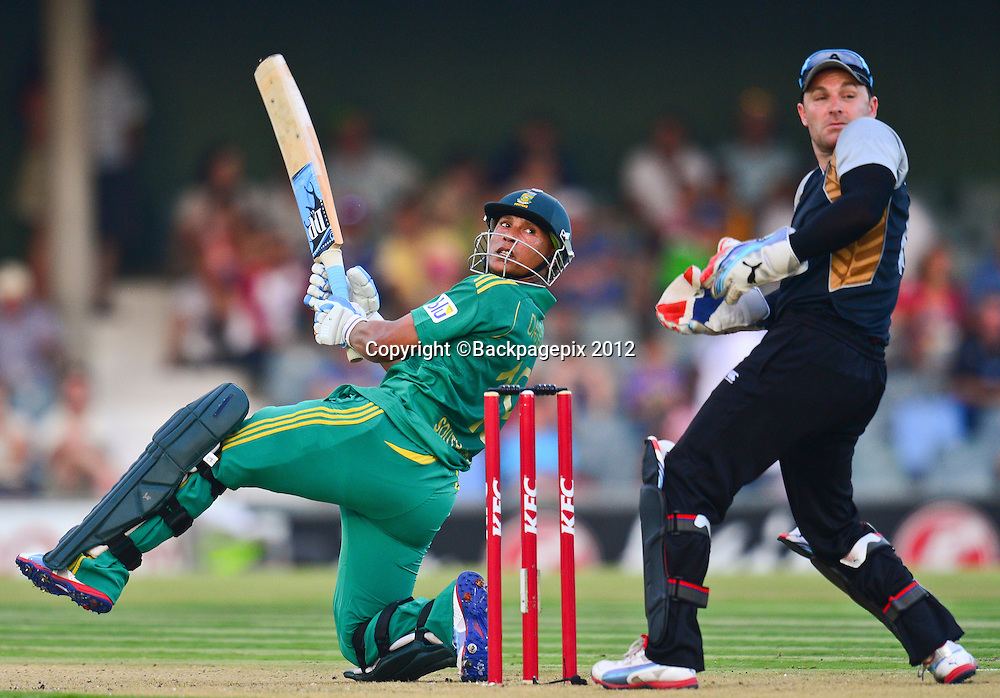 Henry Davids of South Africa during the 2012 KFC T20 International between South Africa and New Zealand at Buffalo Park in East London, South Africa on December 23, 2012 ©Barry Aldworth/BackpagePix