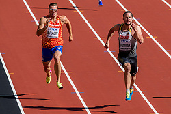 11-08-2017 IAAF World Championships Athletics day 8, London<br /> Pieter Braun NED (tienkamp) wordt zesde in zijn heat op de 100 m