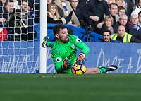 Football - 2016 / 2017 Premier League - Chelsea vs. West Bromwich Albion<br /> <br /> Ben Foster of West Bromwich Albion stops a low shot at Stamford Bridge.<br /> <br /> COLORSPORT/DANIEL BEARHAM