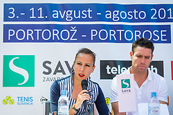 Nina Spremo during Press conference of ATP Challenger Portoroz, on June 16, 2018 in Tivoli, Ljubljana, Slovenia. Photo by Ziga Zupan / Sportida