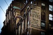 May 5, 2014 - New York, NY. This sign from the 40s adorns the Pennsylvania Building on 34th Street west of 7th Avenue.05/05/2014 Photograph by Kevin R. Convey/NYCity Photo Wire.