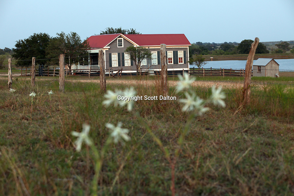 An exterior view of The Lakehouse, one of the homes of Taunia and John Elick located at their ranch headquarters in Chappell Hill, Texas on Wednesday September 2, 2009. The couple rescues old houses and move them to their Texas ranch where after extensive repairs and remodeling they turn them into bed and breakfasts. Their bed and breakfast is called Texas Ranch Life. (Photo/Scott Dalton)